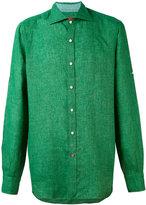 Isaia classic shirt - men - Linen/Flax - 43