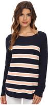 Splendid Basket Weave Stripe Sweater