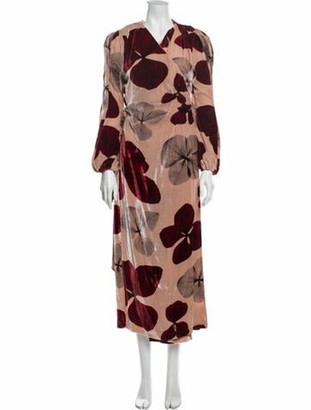 Maria Lucia Hohan Printed Long Dress Pink