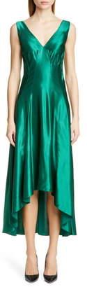 Sies Marjan High/Low Satin Dress