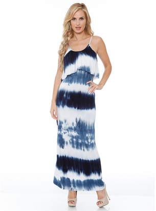 White Mark Women Kaleatie Dye Overlay Maxi Dress