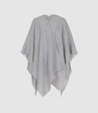Reiss GRACE LIGHTWEIGHT SUMMER PONCHO Soft Grey