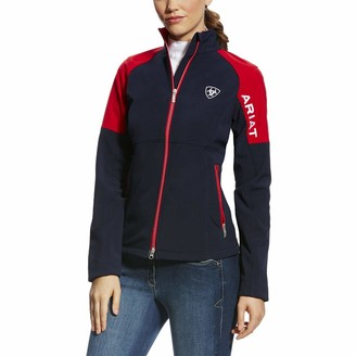 Ariat Womens Continental Softshell Team Jacket - Navy Blue: Extra Small