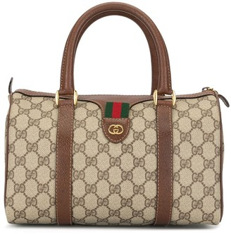Gucci Pre Owned Shelly Line Rigate Boston tote