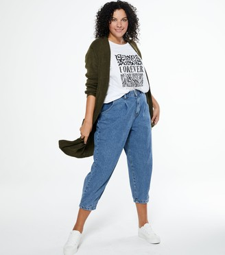 New Look Curves Slouch Nia Balloon Leg Jeans