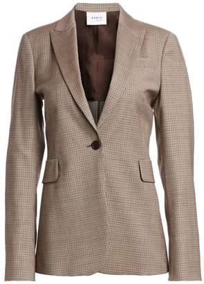 Akris Punto Plaid Stretch Wool Jacket