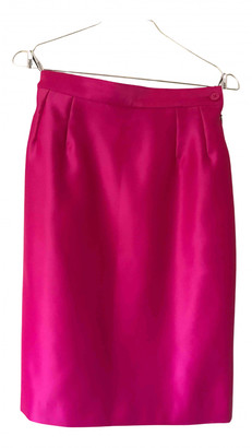 Saint Laurent Pink Polyester Skirts