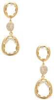 Rivka Friedman Cascading Rock Crystal & CZ Drop Earrings
