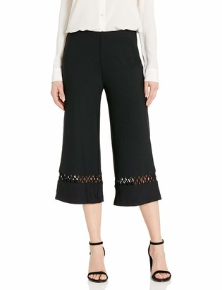 Lysse Women's Cecily Stretch Crepe Wide Leg Crop