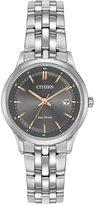 Citizen Women's Eco-Drive Stainless Steel Bracelet Watch 28mm EW2400-58H