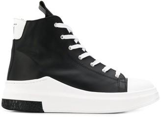 Cinzia Araia hi-top lace-up sneakers