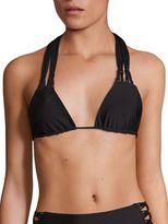 Mikoh Swimwear Crocheted Detail Triangle Bikini Top