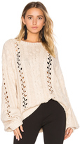 For Love & Lemons KNITZ Wythe Bell Sleeve Sweater