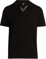 Vince Wool and silk-blend polo shirt