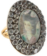 Lydia Courteille Rock Crystal Portrait Ring