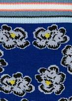 Paul Smith Women's Indigo 'Hawaiian Floral' Pattern Socks