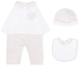 Fendi Kids FF three-piece babygrow set