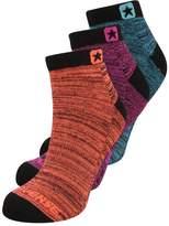 Converse GLOW FAUX SPACEDYE 3 PACK Socks black/cyan/orange/magenta