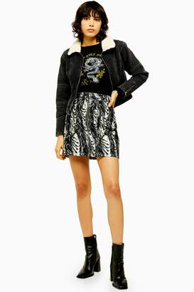 Topshop Womens Idol Black And White Print High Waist Skirt - Monochrome