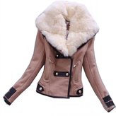 TRURENDI Women's Winter Parka Fur Collar Thick Padded Long Coat Outerwear Motorcycle jackets