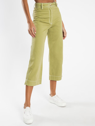 Nude Lucy Kahlo Wide Leg Pants in Olive