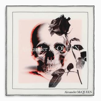 Alexander McQueen White skull print scarf