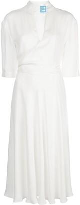 Off-White Logo Patch Midi Dress