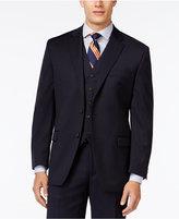Lauren Ralph Lauren Navy Solid Big and Tall Classic-Fit Jacket