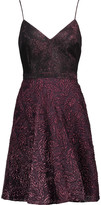 Badgley Mischka Metallic twill and brocade dress