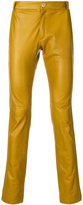 Qasimi slim fit leather trousers