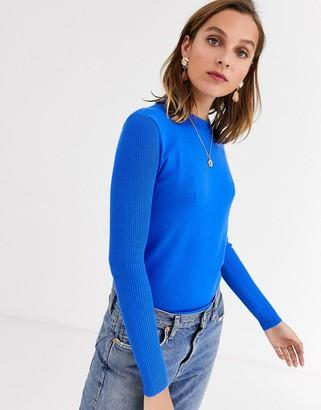 Gianni Feraud crewneck knit jumper in cobalt blue