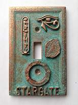 Stargate Light Switch Cover - Aged Copper/Patina or Stone (Copper/Patina)
