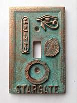 Stargate Light Switch Cover - (Copper/Patina)