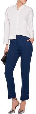 Carven Crepe Straight-Leg Pants