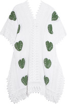 Miguelina Tyra printed cotton-muslin and lace coverup