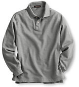 Lands' End Big Kids Long Sleeve Performance Mesh Polo-White