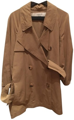 Lanvin Beige Cotton Trench Coat for Women