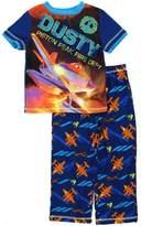 Disney Planes Boys Blue Poly Pajamas (XS (4/5))