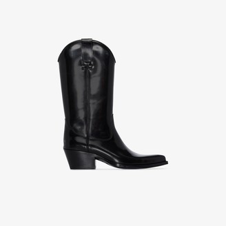 Sunflower X Buttero black leather cowboy boots
