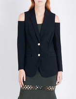 MICHAEL Michael Kors Cold shoulder single-breasted stretch-wool jacket