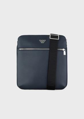 Emporio Armani Flat Shoulder Bag With Logo Plate