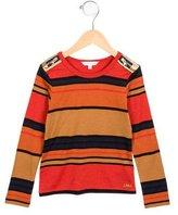 Little Marc Jacobs Girls' Striped Zipper-Adorned Top