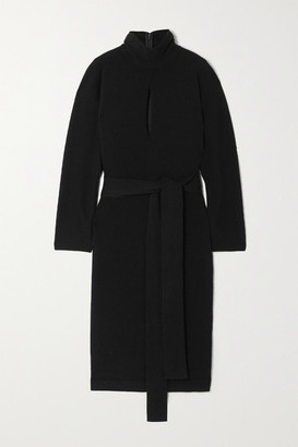 Tom Ford Cutout Belted Cashmere Dress - Black