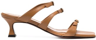 MANU Atelier Buckle-Detail Leather Sandals