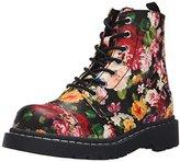T.U.K. Women's Floral Print Combat, Combat, Boot