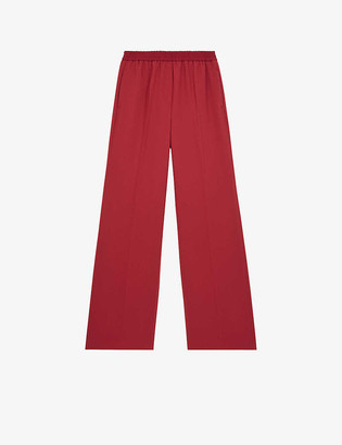 The Kooples Centre-crease woven trousers