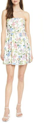 Alice + Olivia Trixie Floral Spaghetti Strap Dress