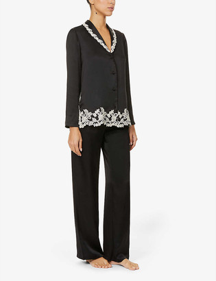 La Perla Maison lace-trim silk-satin pyjama set