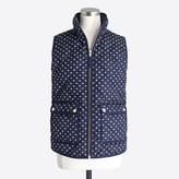 J.Crew Factory Polka-dot puffer vest