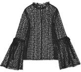 Alice McCall Just Lust Crocheted Lace Top - Black